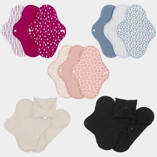 Imse Vimse Tygbindor, fem olika färger i rosa, blå, vit och svart