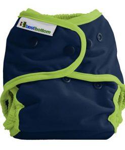 Best Bottom Diaper Cover, PUL-skal i blått och grönt