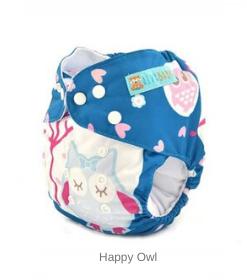 AlvaBaby Cloth Diapers Happy Owl