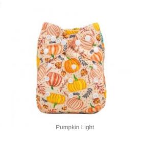 AlvaBaby Pumpkin Light pocketblöja med med pumpor mot ljus botten