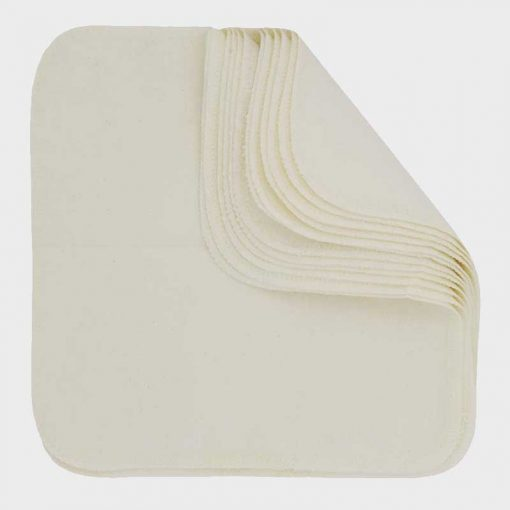 Imse Vimse tvättlappar, vita. 12-pack.
