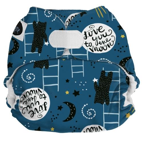 Imagine Baby Pocket diapertygblöja med måne och björn som klättrar på en stege