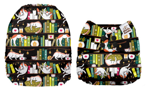 Mama Koala pocketblöjor tygblöjor Katter bokhylla böcker