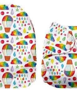 Mama Koala pocketblöjor tygblöjor regn moln luftballong färgglad